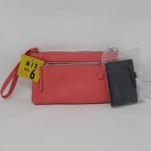Women's wristlet with portable phone charger
